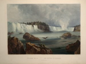 Image from the 1830s of Niagara Falls
