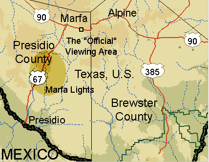 Map of the location