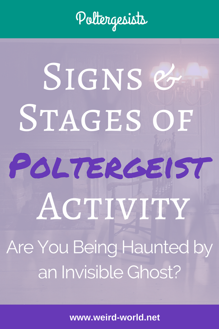 Most of us will never see a single sign that could be a poltergeist.  But if you have strange things happening around your home, recognising those potential signs is important.  And if you think you have a problem and need to get help, the stages will let you know just how urgent it is.  Click to learn more about the signs and stages of poltergeist activity #poltergeist #ghost #paranormal