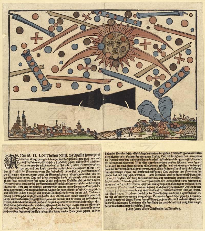 Wood cutting of the Nuremberg sightings