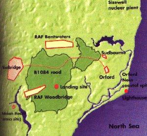 Area of Rendlesham Forest Incident