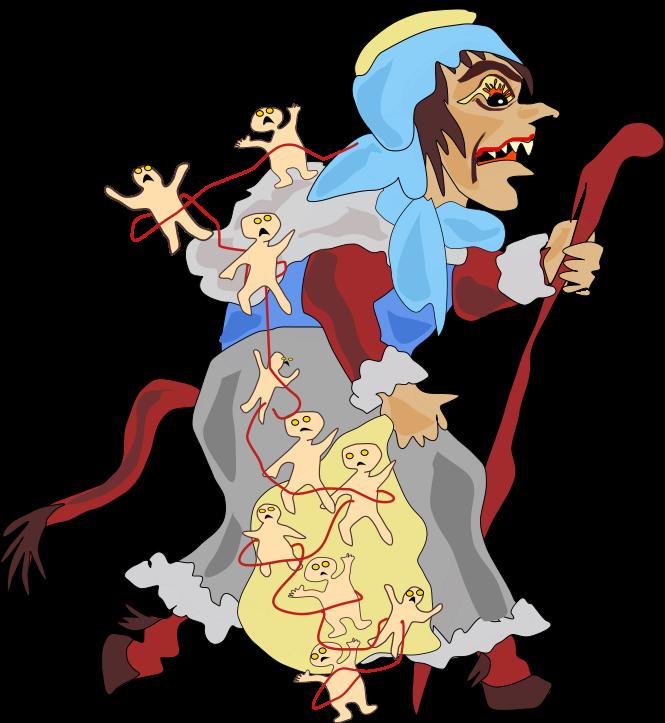 Modern depiction of Gryla