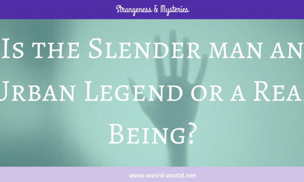 Is the Slender Man an Urban Legend or a Real Being?
